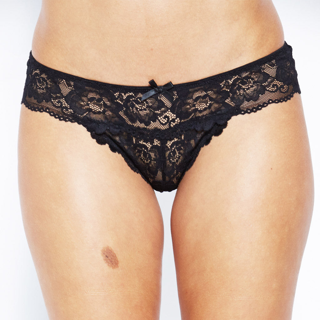 Hollywood Lace G-String - Black