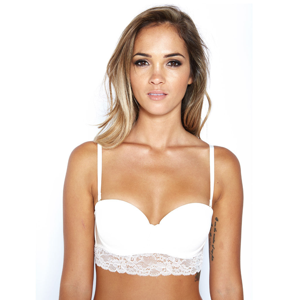Manhattan Balcony Bra - White