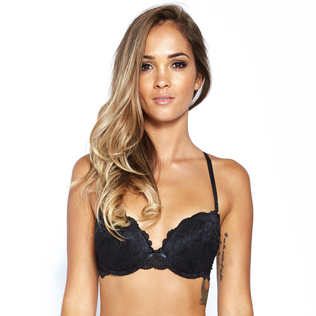 Hollywood Pushup Bra - Black