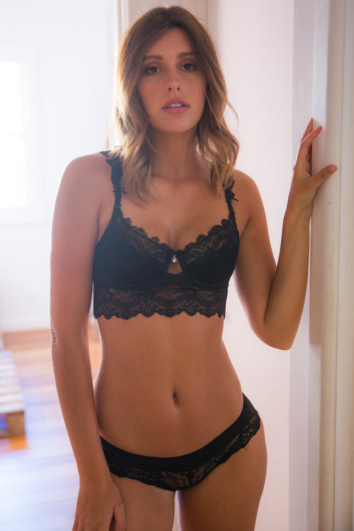 Chandelier Bra - Black