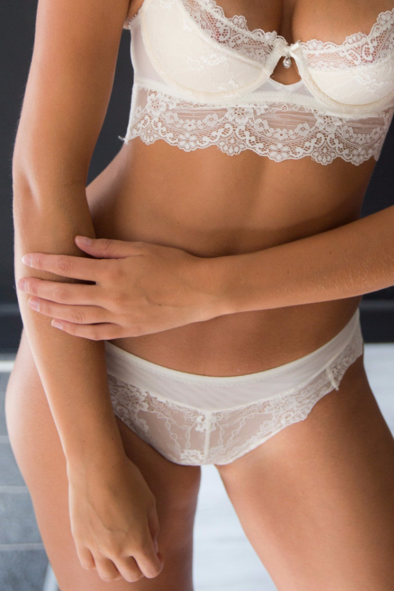 Chandelier Undies - White