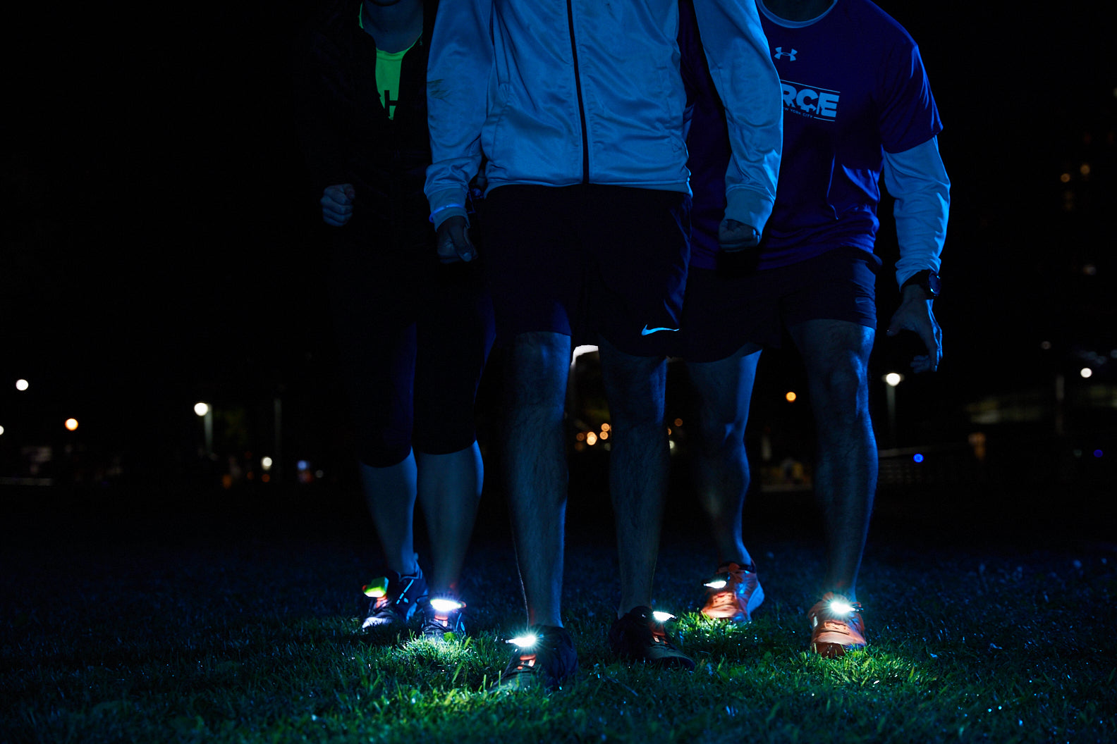 night runner shoe lights night tech gear