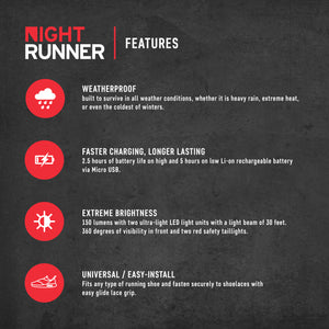 Night Runner 270 Shoe Lights