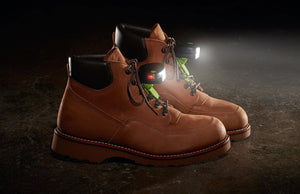 Night Shift Shoe Lights - Side View on Work Boots