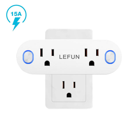Roll over image to zoom in LeFun Lefun 2 AC in 1 Smart Plugs Wifi Outlets