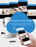 Lefun Wireless IP Security Camera with Cloud Storage 2 Way Audio Remote Viewing Motion Detect Night Vision, Baby Monitor WiFi Surveillance Pet Camera with 32G Kingston Micro SD Card