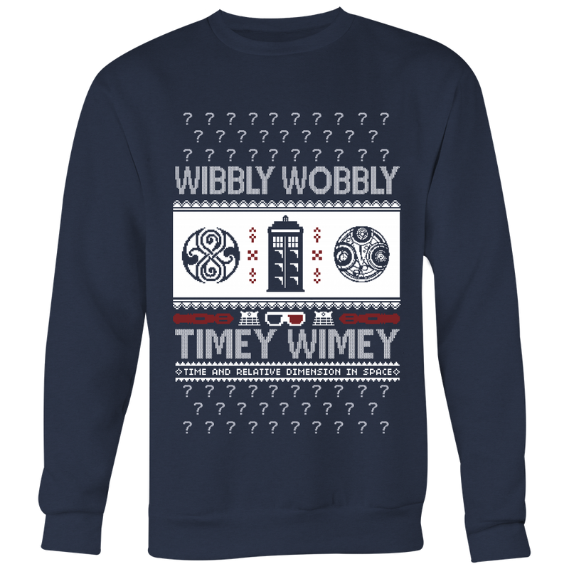 Wibbly Wobbly Ugly Christmas Sweater