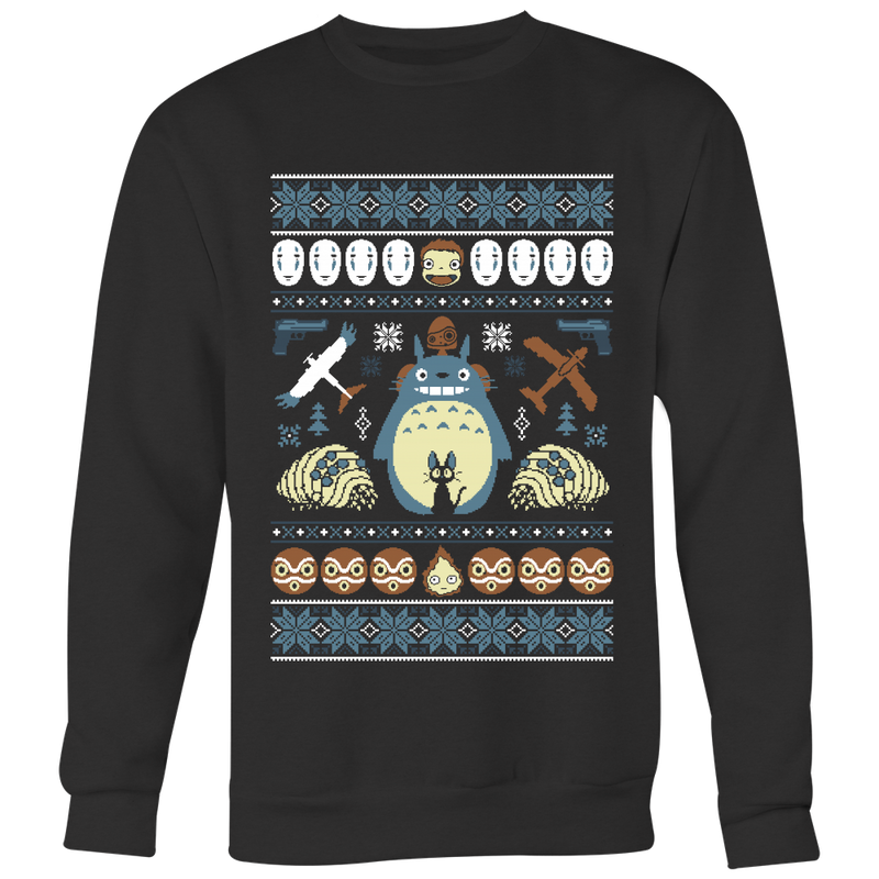 A Very Ghibli Xmas Ugly Christmas Sweater