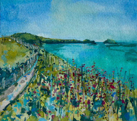 Artist Support Pledge Painting 'Campions At Trevan'