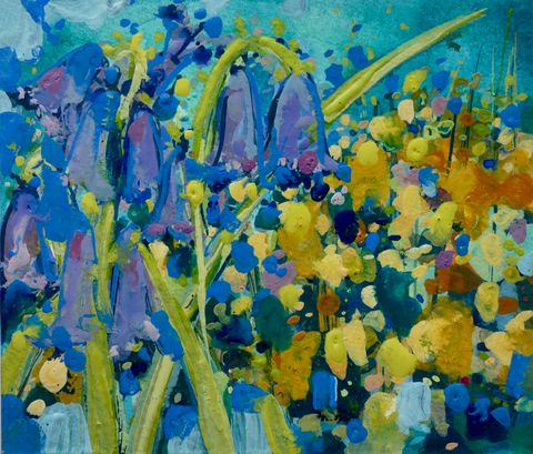 Artist Support Pledge Painting 'Bluebells And Gorse'