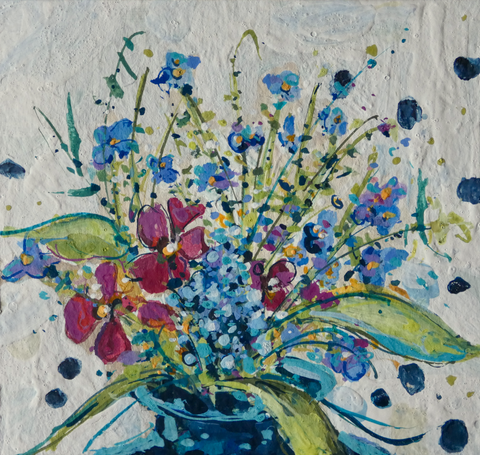 Copy of Artist Support Pledge Painting 'Forget-Me-Nots'