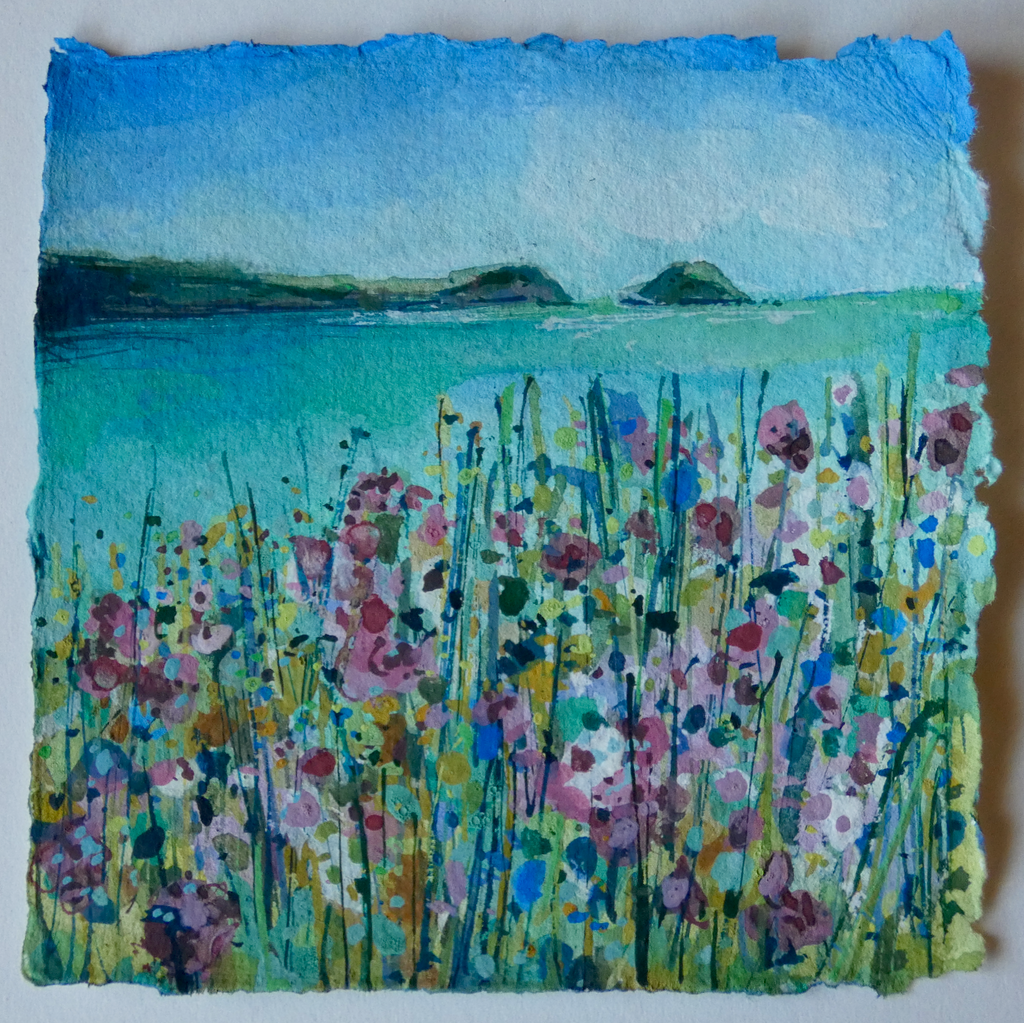 Artist Support Pledge Painting 'Pinks and Sea Campions'
