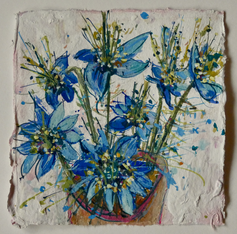 Artist Support Pledge Painting 'Love-In-A-Mist'