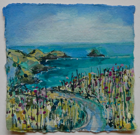 Artist Support Pledge Painting 'Footpath Towards The Rumps' 11cm x 11cm