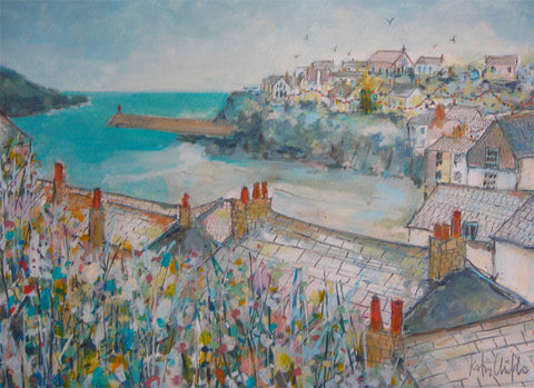 Winter Rooftops Port Isaac