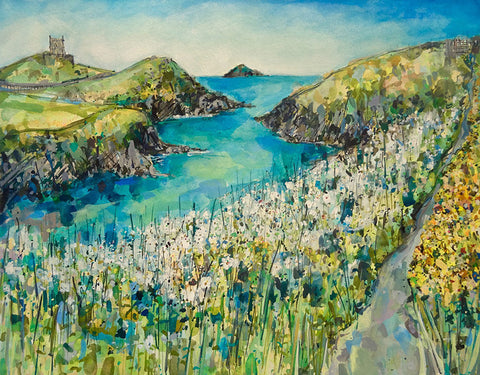 May Blossom and Gorse, Port Quin