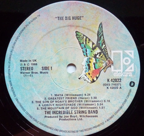 Incredible String Band - The Big Huge - LP - 1972 UK Press