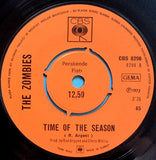 The Zombies ‎– Time Of The Season / I'll Call You Mine - 45lik 1972