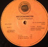Necronomicon ‎– Tips Zum Selbstmord - LP 2005 Reissue Limited Edition 575 Copies