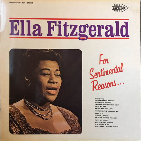 Ella Fitzgerald ‎– For Sentimental Reasons ..... - LP 70's
