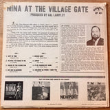 Nina Simone ‎– At The Village Gate - LP 1963 2nd Press