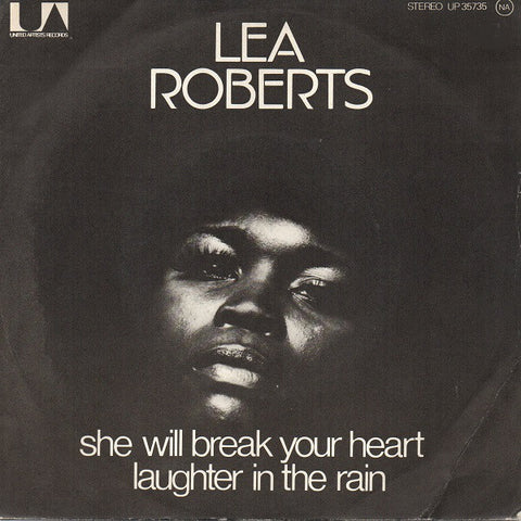 Lea Roberts ‎– Laughter In The Rain / She Will Break Your Heart - 45lik 1974