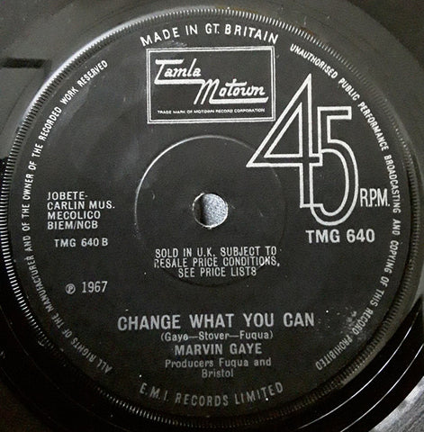 Marvin Gaye ‎– You / Change What You can - 45lik 1968