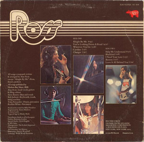 Ross - Ross - LP - 1974 US Press