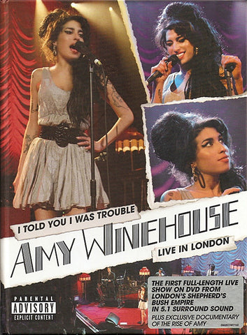 Amy Winehouse ‎– I Told You I Was Trouble - Live In London - DVD 2007