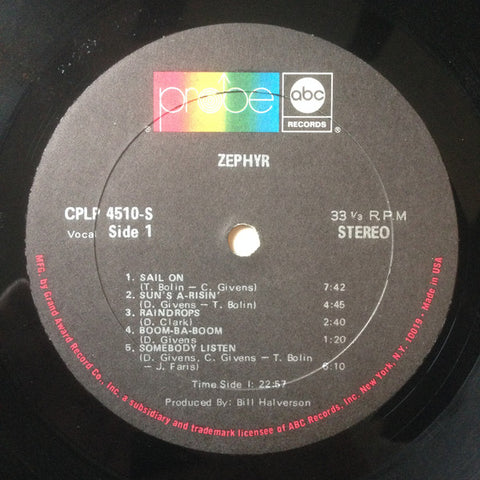Zephry - Zephry - LP - 1969 US Press