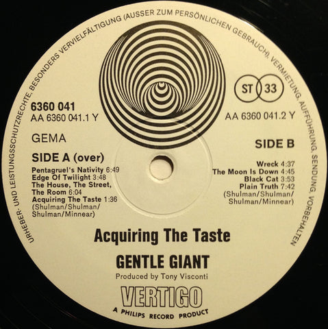 Gentle Giant - Acquiring the Taste - LP - 1st Press Vertigo Swirl