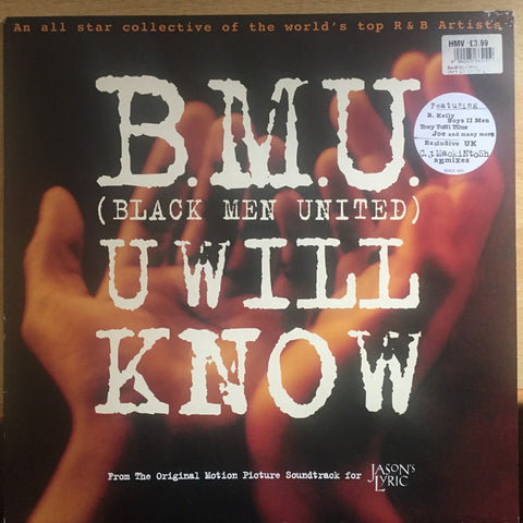 "B.M.U. (BLACK MEN UNITED) - U WILL KNOW - 1995 12"" MAXI SINGLE"