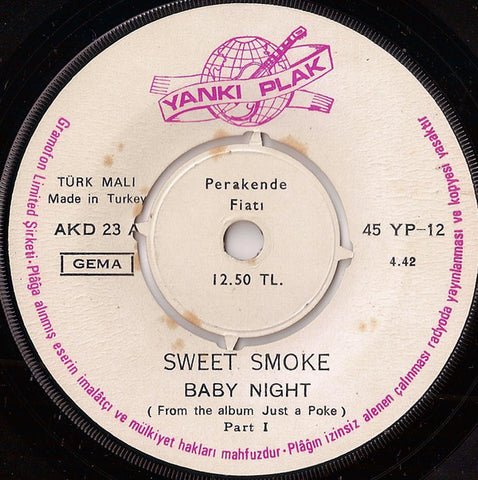 Sweet Smoke ‎– Baby Night - 45lik 1970