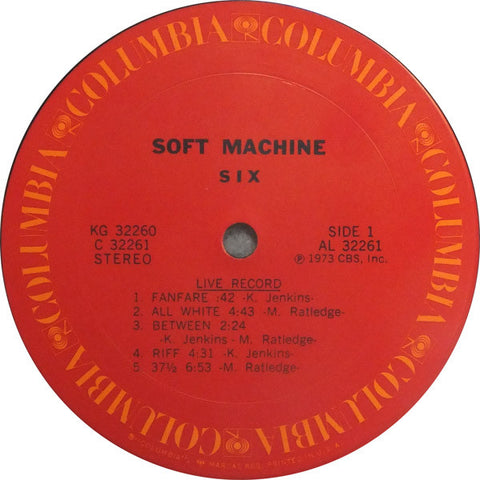 Soft Machine - Six - Double LP 1973 US Press