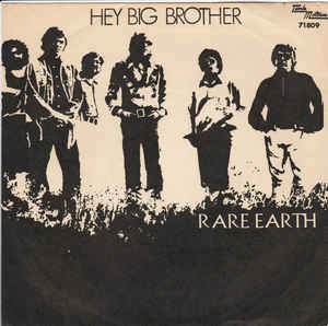 Rare Earth ‎– Hey Big Brother / Under God's Light - 45lik 1971