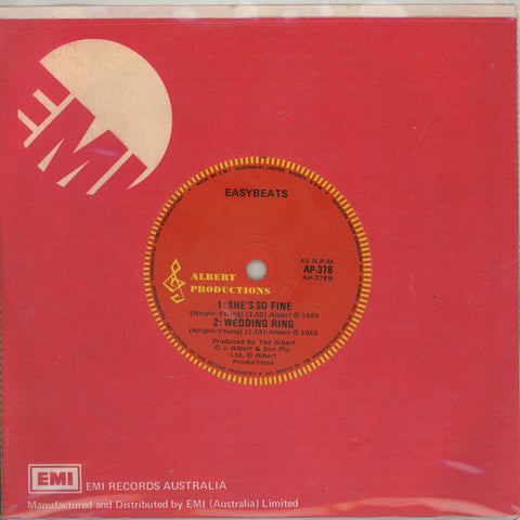 Easybeats ‎– Friday On My Mind - 45lik 1981 Reissue