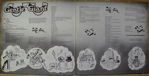 Gentle Giant - Three Friends - LP - 1972