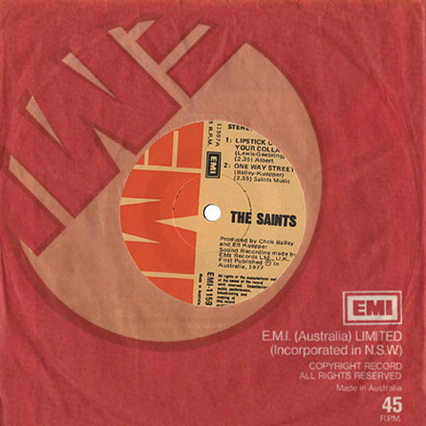 The Saints ‎– Lipstick On Your Collar / One Way Street / Demolition Girl / River Deep, Mountain High - 45lik 1977