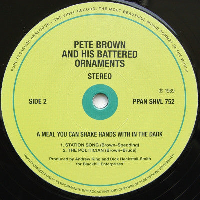 Pete Brown and His Battered Ornaments - A Meal you can shake hands with in the dark - 2 x LP 2012 Reissue