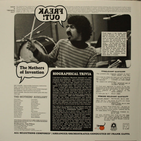 Mothers of Invention - Freak Out - LP - 2013 Reissue Double LP 180gr.