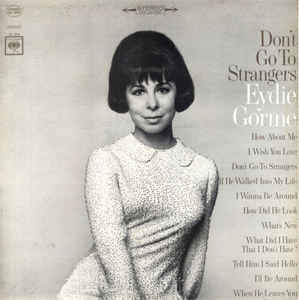 Eydie Gorme  ‎– Don't Go To Strangers - LP 1966