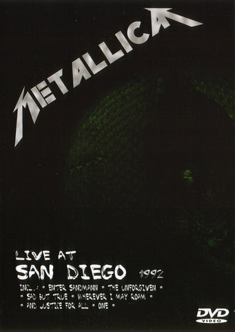 Metallica ‎– Live At San Diego 1992 - DVD Unofficial Press