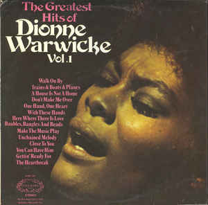 Dionne Warwicke ‎– The Greatest Hits Of Dionne Warwicke Vol. 1 - LP 1972