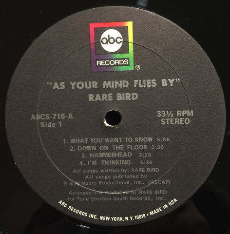 Rare Bird - As your mind flies by - LP 1970 US Press