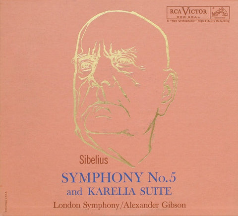 Sibelius, London Symphony / Alexander Gibson ‎– Symphony No.5 And Karelia Suite - LP 1960