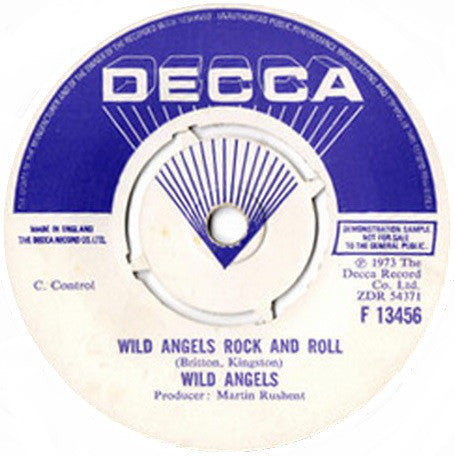 Wild Angels ‎– Clap Your Hands And Stamp Your Feet - 45lik 1973 PROMO COPY!