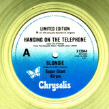 BLONDIE - HANGINIG ON THE TELEPHONE - ŞEFFAF RENKLİ PLAK - LIMITED EDITION MAXI SINGLE 12""