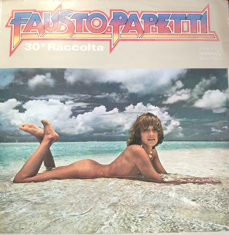 Fausto Papetti ‎– 30a Raccolta - LP 1980 TURKISH PRESS