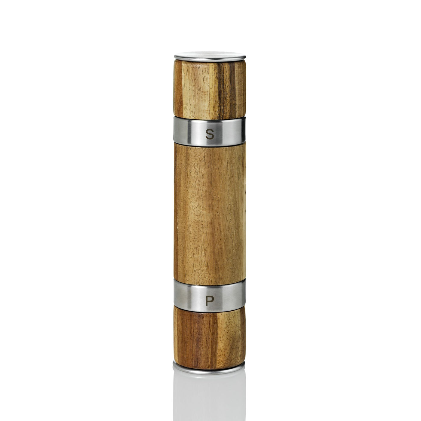 Pepper + Salt Double Mill in Stainless Steel