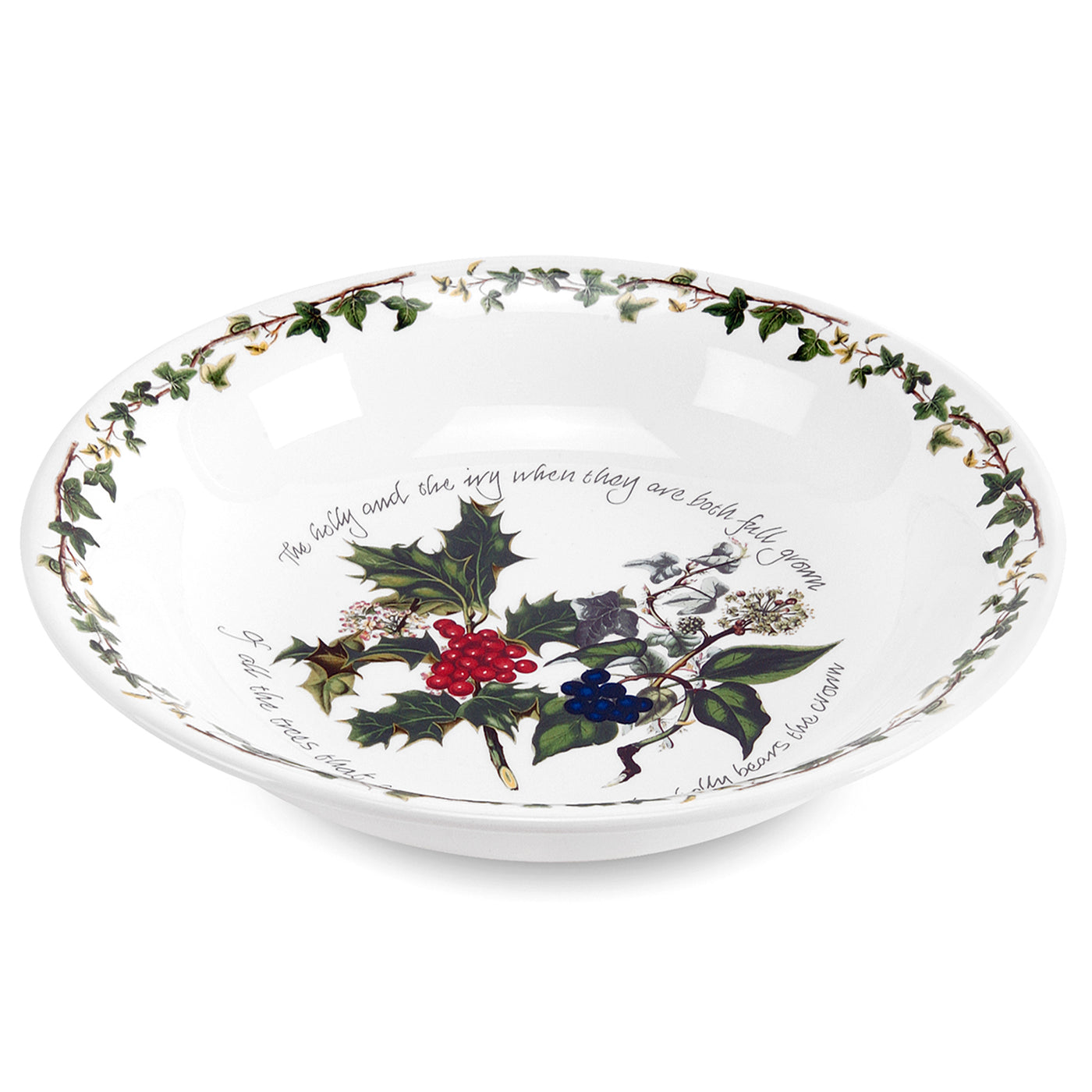 "Holly & Ivy Pasta Bowls 8"", Set of 6"